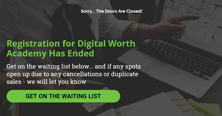 Digital Worth Academy website